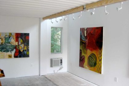 Interior of one of the studios at Independence Art Studios, Houston